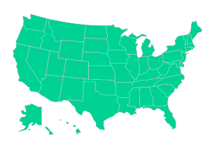 free state map of us vector