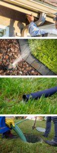 downspouts sprinklers sump pump
